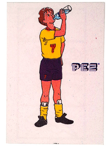 PEZ - Stickers - Soccer - Drinking