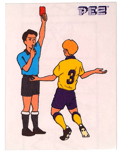 PEZ - Stickers - Soccer - Red Card
