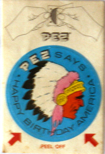 PEZ - Stickers - Bicentennial - Indian Chief