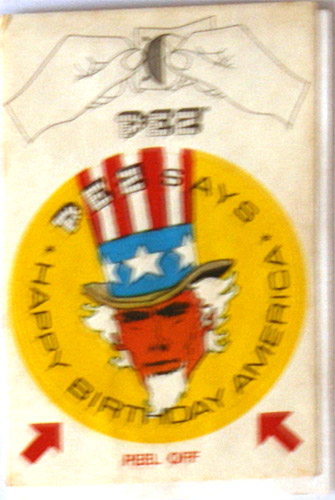 PEZ - Stickers - Bicentennial - Uncle Sam