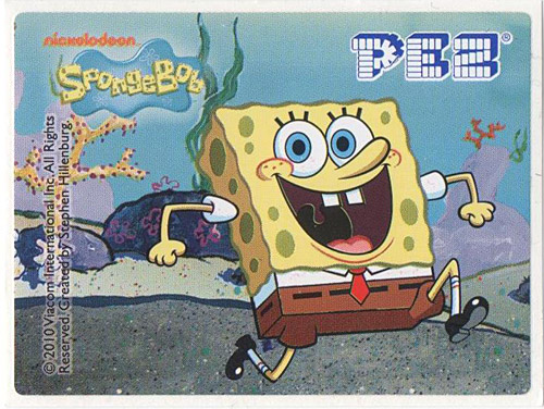 PEZ - Stickers - SpongeBob SquarePants - 2010 - SpongeBob running
