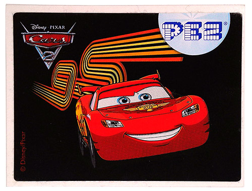 PEZ - Stickers - Cars 2 - Lightning McQueen 95