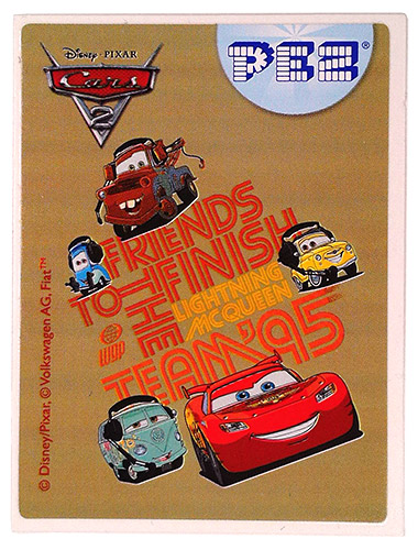 PEZ - Stickers - Cars 2 - Friends to the finish