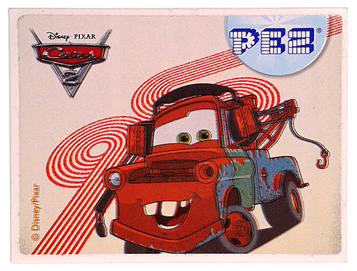 PEZ - Stickers - Cars 2 - Mater