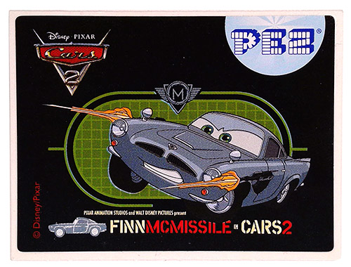 PEZ - Stickers - Cars 2 - Finn McMissile