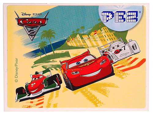 PEZ - Stickers - Cars 2 - Bernoulli, McQueen and Todoroki