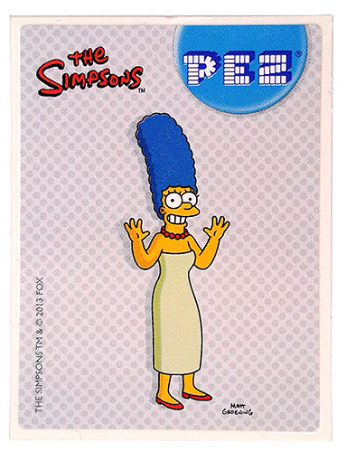 PEZ - Stickers - The Simpsons - 2013 - Marge Simpson