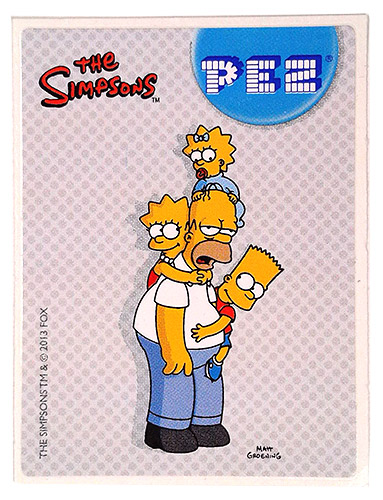 PEZ - Stickers - The Simpsons - 2013 - Homer with kids