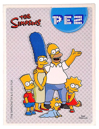 PEZ - Stickers - The Simpsons - 2013 - Family