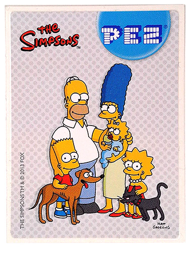 PEZ - Stickers - The Simpsons - 2013 - Family with pets