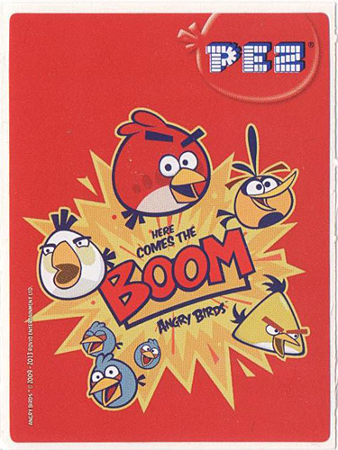 PEZ - Stickers - Angry Birds - Here comes the boom