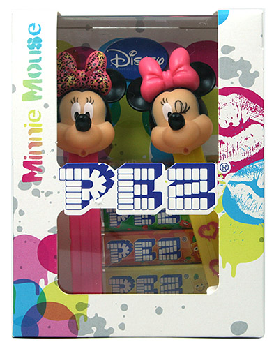 PEZ - Bowtique - 2014 - Minnie Mouse Twinpack colored dots - E