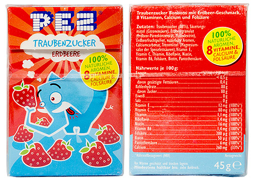 PEZ - Dextrose Packs - Traubenzucker elephant