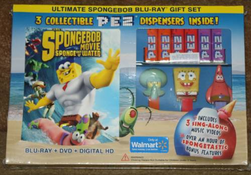 PEZ - SpongeBob SquarePants - SpongeBob Movie Gift Set