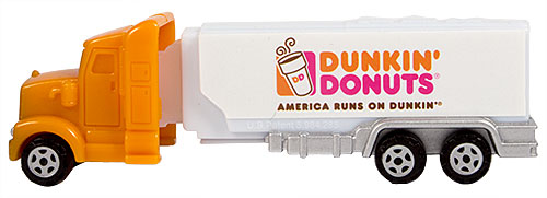 PEZ - Advertising Dunkin' Donuts - Truck - Orange cab