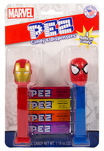 PEZ - Avengers 2015 - Avengers Double Pack Iron Man & Spider-Man