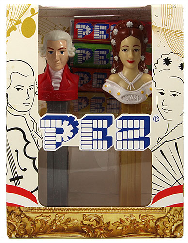 PEZ - Famous People - Twin Pack Mozart & Sissi