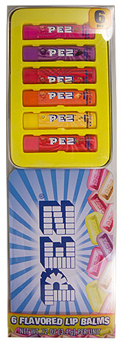 PEZ - Lip Balm - 6 Flavored Lip Palms - PEZ Candies