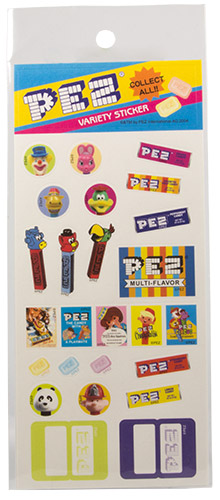 PEZ - Miscellaneous (Non-Dispenser) - Variety Sticker - blue