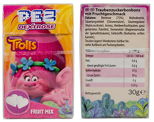 PEZ - Dextrose Packs - Trolls