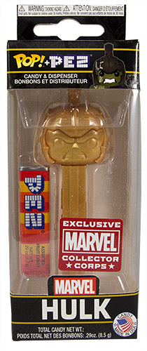 PEZ - Funko POP! - Marvel - Marvel Collector Corps - Hulk - Gold