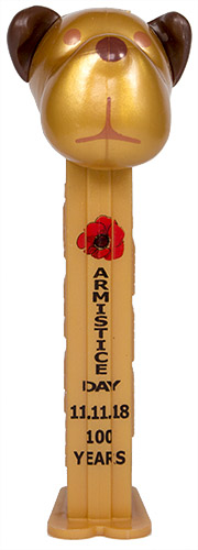 PEZ - AWL / SOS - Armistice Day 2018 - Barky Brown - Gold Head