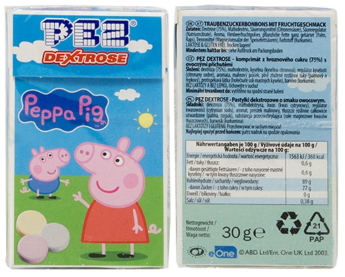 PEZ - Dextrose Packs - Peppa Pig