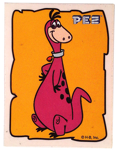 PEZ - Stickers - Flintstones - Small Single Border - Dino