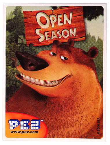 PEZ - Stickers - Open Season - Boog