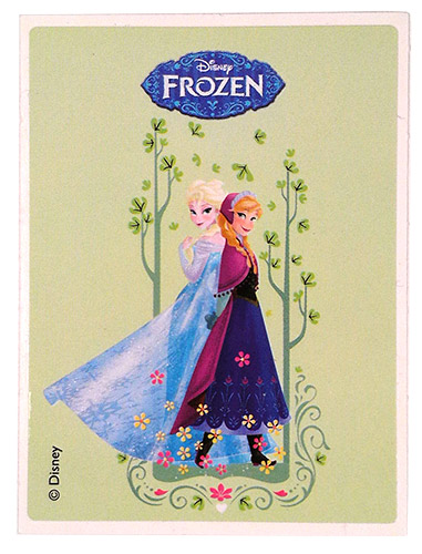 PEZ - Stickers - Frozen - Elsa & Anna - back on back
