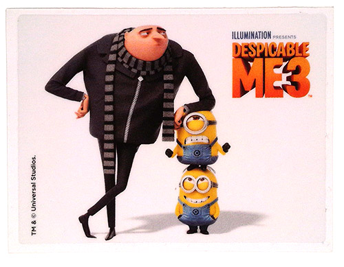 PEZ - Stickers - Despicable Me 3 - Gru, Stuart & Dave