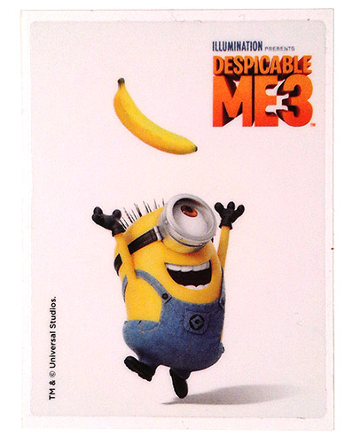PEZ - Stickers - Despicable Me 3 - Stuart with banana
