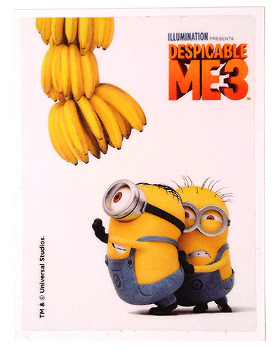 PEZ - Stickers - Despicable Me 3 - Stuart & Dave with banana