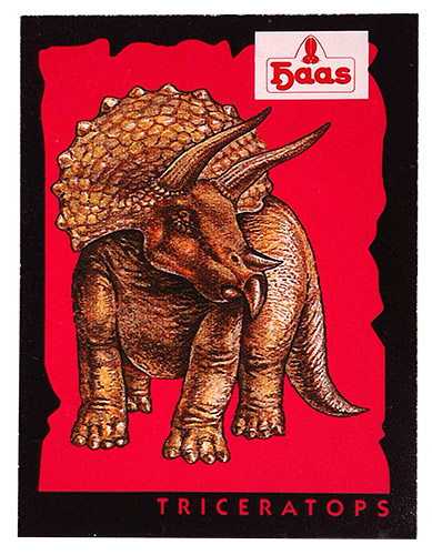 PEZ - Stickers - Dinosaurs (Haas) - Triceratops
