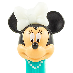 PEZ - Disney Classic - Minnie Mouse - white off bow - F