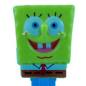 PEZ - SpongeBob SquarePants - SpongeBob in Shirt - yellow head, front shirt, no cheesy spots